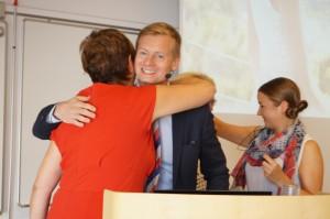 Inger Bjelke, min gruppchef och Marcus Svanberg, VD för Oriflame