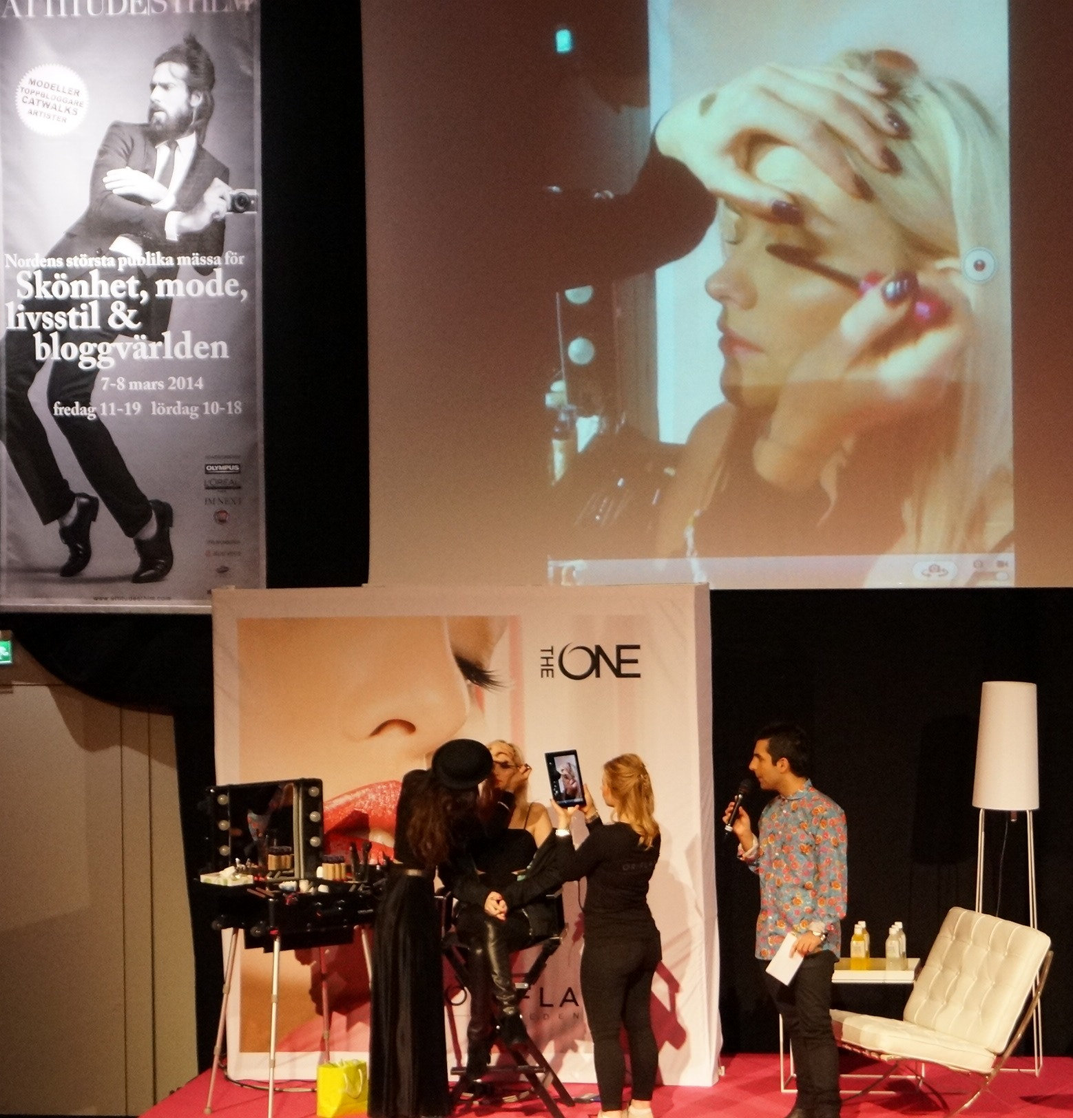 Linda sminkar Elin Kling med Oriflames nya makeup