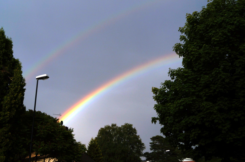 Dubbel regnbåge. Foto Anneli Uusitalo, Vackert.Nu