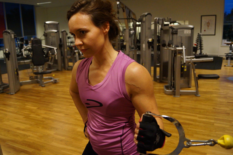 På gymmet september 2014