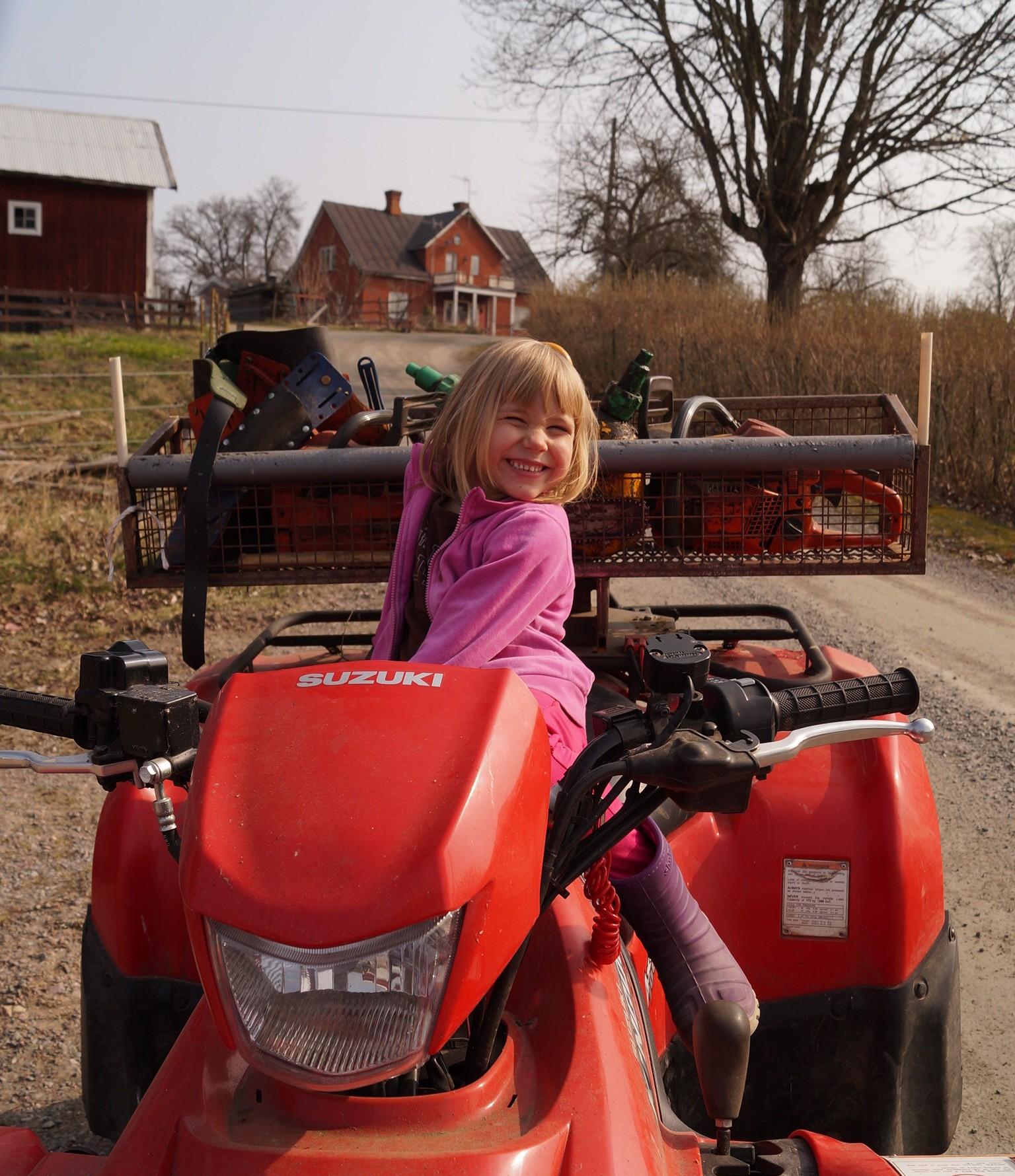 På fyrhjuling Foto: Anneli Uusitalo VackertNu